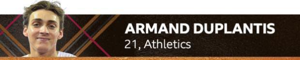 Armand Duplantis, 21, athletics