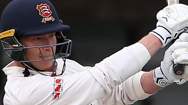 Essex's Tom Westley ended the day just 16 short of his century