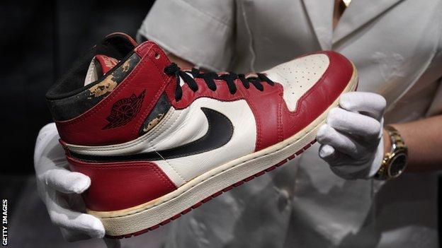 Air Jordan 1s for sale at Christies