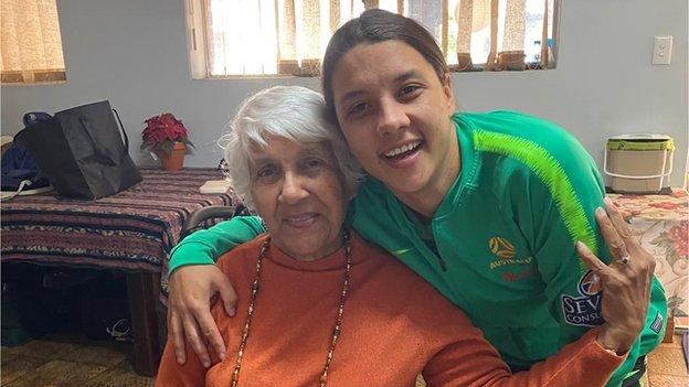Sam Kerr and her Nan, Coral