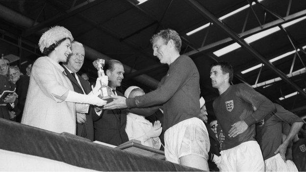 Prince Philip attends the World Cup final in 1966