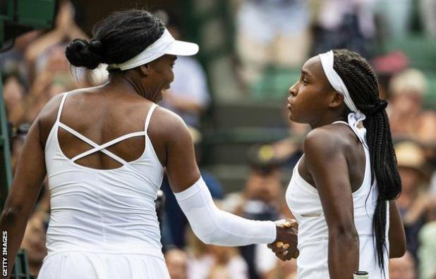 Venus Williams and Coco Gauff
