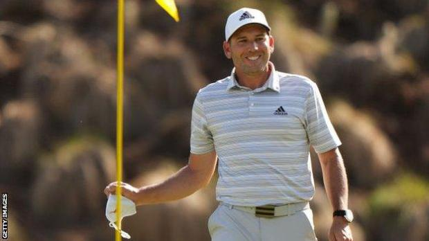 Sergio Garcia celebrates his hole-in-one at the WGC Matchplay at Austin