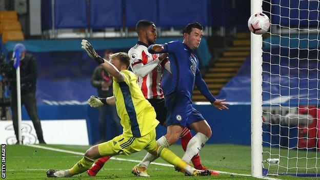 Ben Chilwell scores Chelsea's second goal