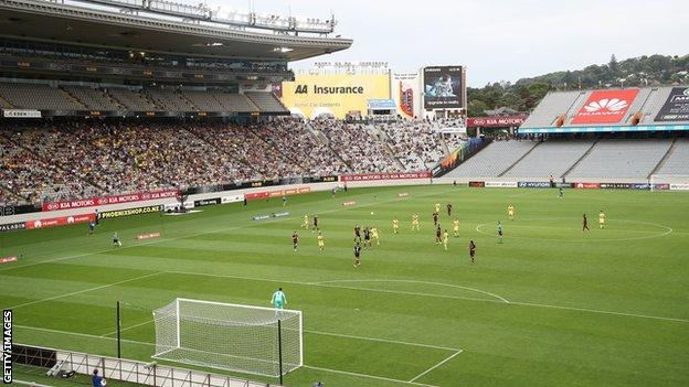 Eden Park in Auckland, New Zealand, which will host the opening game of the 2023 Women's World Cup
