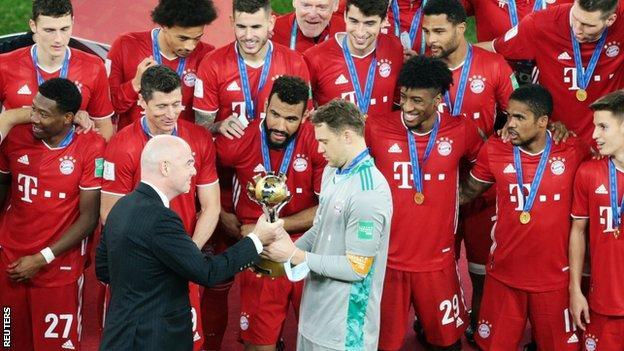 Bayern Munich with trophy