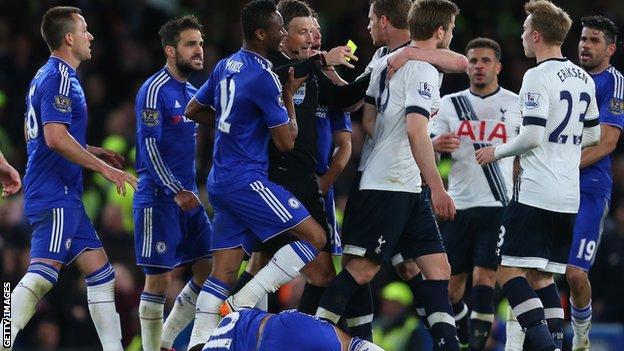 Chelsea v Tottenham in May 2016
