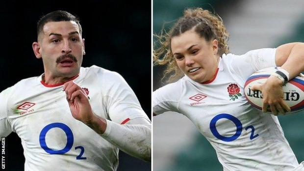 A split picture of Jonny May and Ellie Kildunne