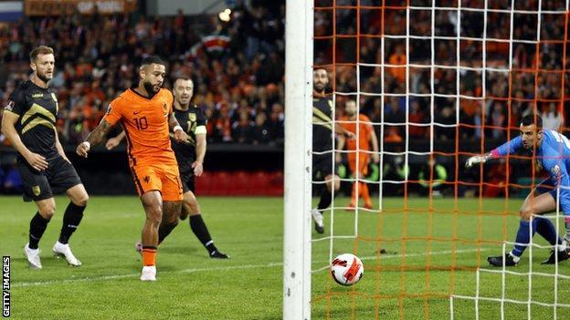 , Depay scores twice as Netherlands thrash Gibraltar, The Evepost BBC News