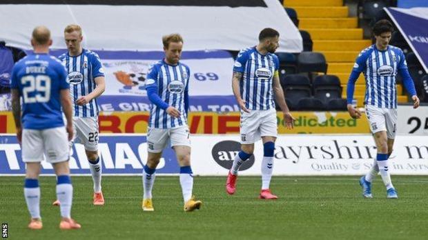 Kilmarnock players looking dejected