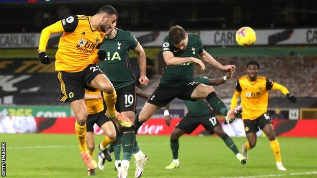 Romain Saiss scores late on for Wolves