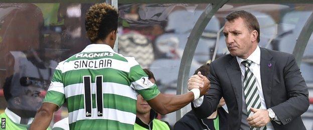 Brendan Rodgers Scott Sinclair Celtic FC