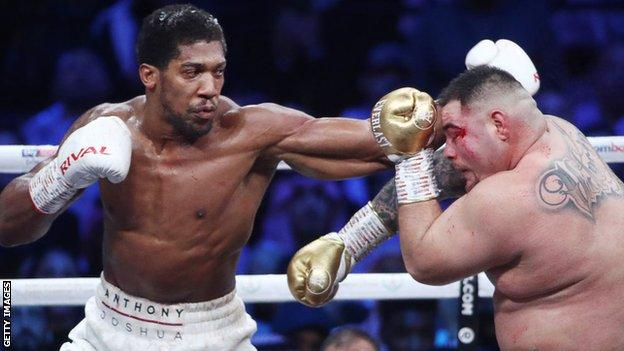 sport Anthony Joshua in action against Andy Ruiz Jr