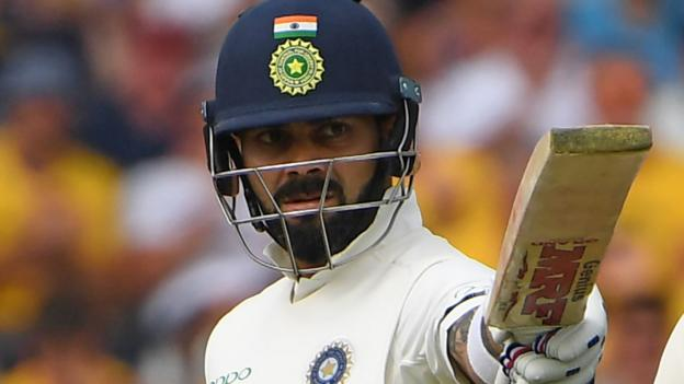 England v India: Virat Kohli hits 97 on opening day of third