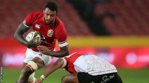 Courtney Lawes playing for the Lions