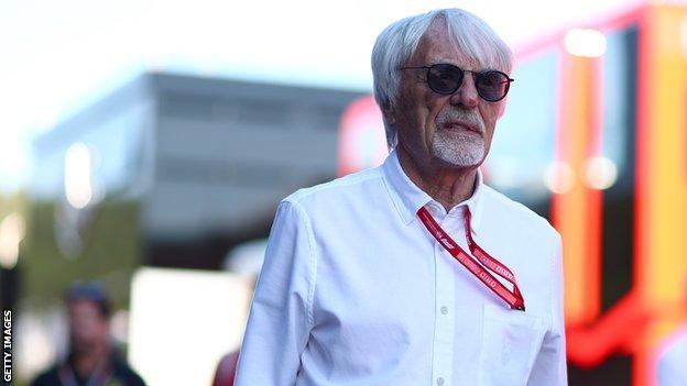 sport Ex-Formula 1 boss Bernie Ecclestone walks down the paddock at the 2019 Austrian Grand Prix