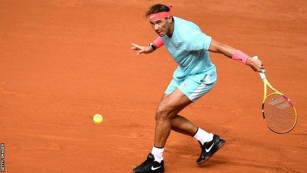 French Open 2020: Rafael Nadal thrashes Mackenzie McDonald in second round  - BBC Sport