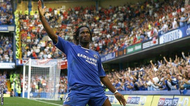 Didier Drogba of Ivory Coast and Chelsea