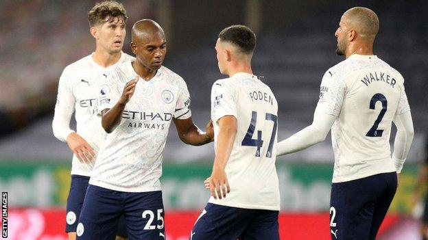 Wolves 1-3 Manchester City: Pep Guardiola's side start with away win - BBC Sport