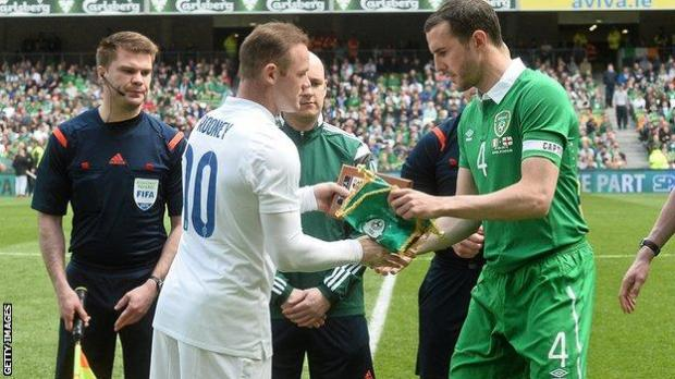 The teams last met in June 2015 when Wayne Rooney and John O'Shea were captains