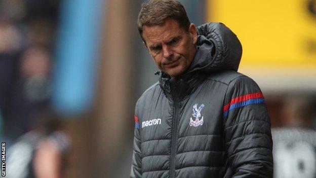 De Boer lasted a matter of weeks as Palace boss after succeeding Sam Allardyce