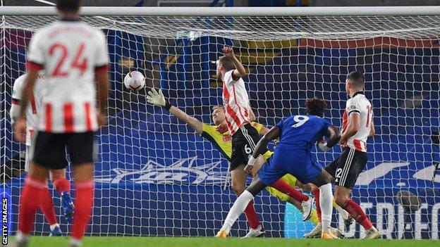 Tammy Abraham scoring Chelsea's first goal