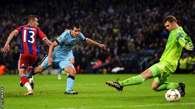 Aguero rounds off his hat-trick with a 91st minute winner in a 3-2 win over Bayern Munich in 2014