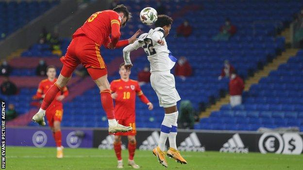 Kieffer Moore's towering headed goal capped a fine night for Wales in Cardiff