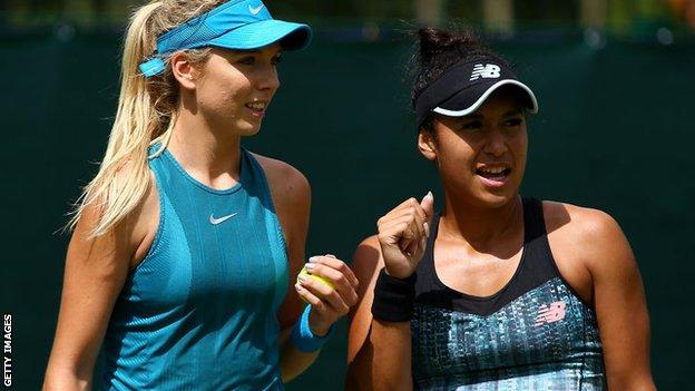 Katie Boulter and Heather Watson