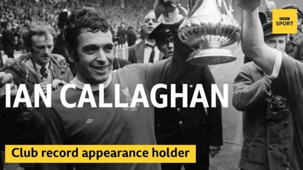 Ian Callaghan after Liverpool's 1974 FA Cup final win over Newcastle United