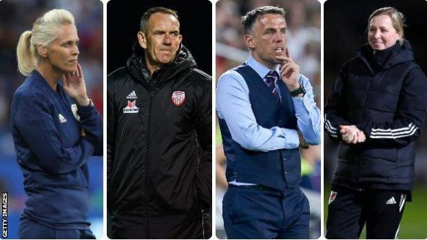 The four home nations managers that were involved in selecting a long list of players for the Team GB squad