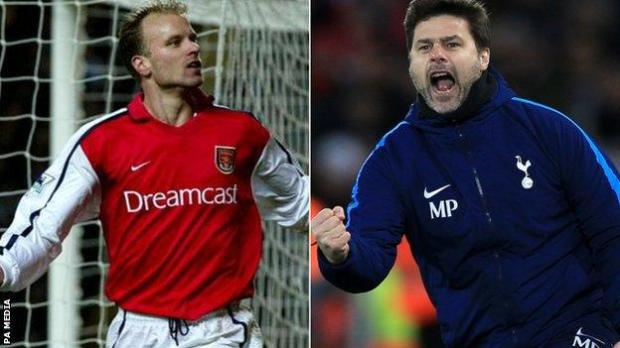 Dennis Bergkamp and Muaricio Pochettino