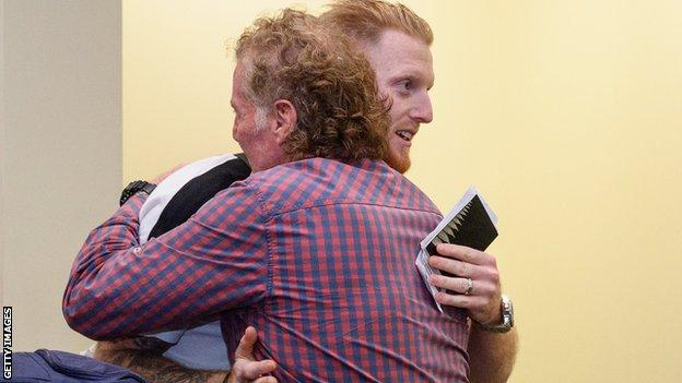 Ben Stokes and his father Ged