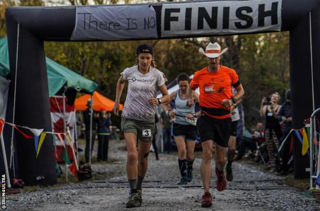 Maggie Guterl and Dave Proctor compete at the 2019 race
