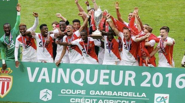 Serrano (far right) won the Coupe de Gambardella with Mbappe in 2016