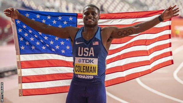 Christian Coleman became the sixth-fastest man in history in 2019