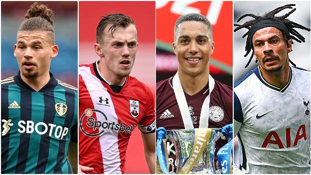 Kalvin Phillips (Leeds United), James Ward Prowse (Southampton), Dele Alli (Tottenham), Youri Tielemans (Leicester City)