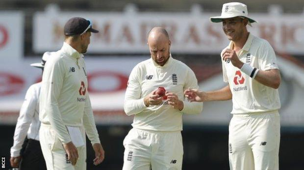 England players during the second Test with India