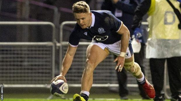 Darcy Graham in action for Scotland