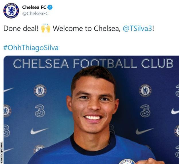 Thiago Silva tweet