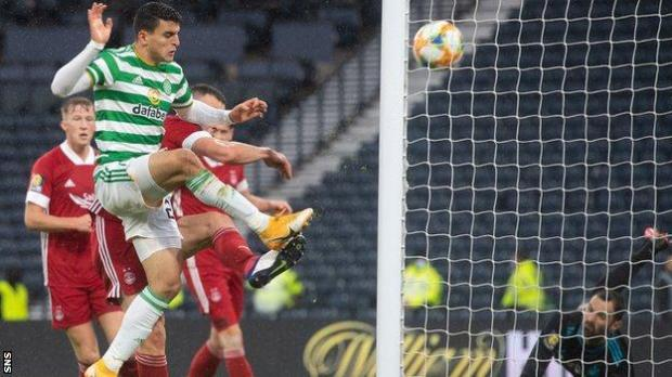Mohamed Elyounoussi's goal put Celtic in command of the semi-final