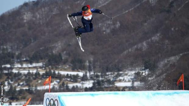 Katie Summerhayes in action at the Pyeongchang 2018 Winter Olympics