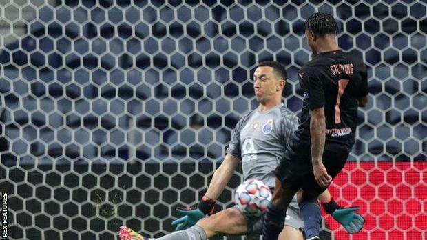 Agustin Marchesin (left) and Raheem Sterling