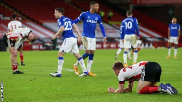 Sheffield United were beaten 1-0 by Everton at Bramall Lane on Saturday
