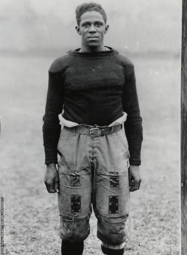 Pollard, pictured circa 1919 in his kit to play a match