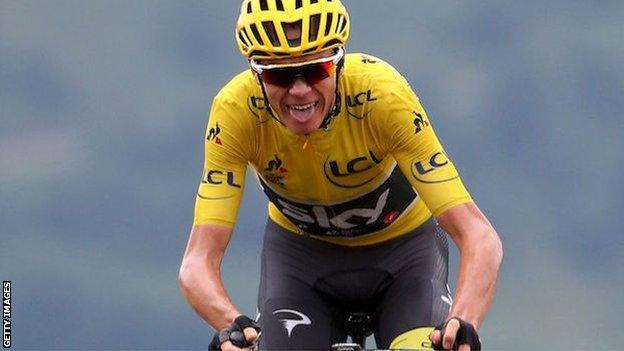 Chris Froome during the 2017 Tour de France