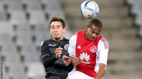 Ajax Cape Town in action against Sporting Club de Portugal