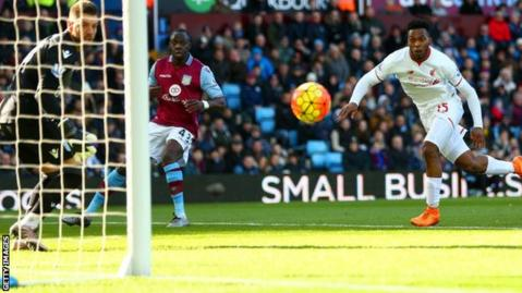 Daniel Sturridge scores his fifth goal of the season for Liverpool
