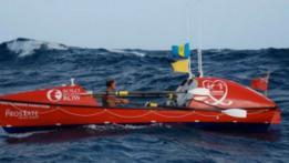 John Beeden durante su travesía del Pacífico