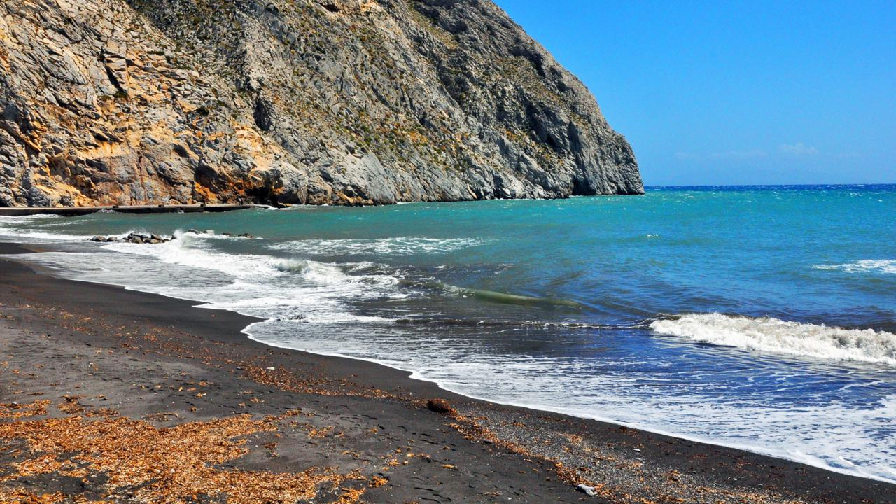 Santorini, Red Beach, White Beach, Black Beach, Greek islands (Credit: Amanda Ruggeri)